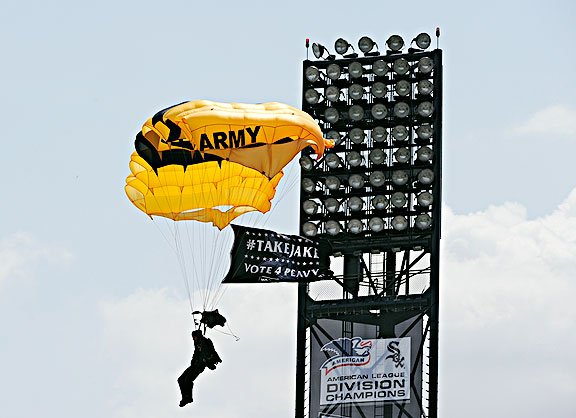 U.S. Army's Golden Knights parachuter