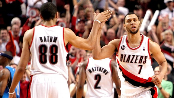 Brandon Roy and Nicolas Batum