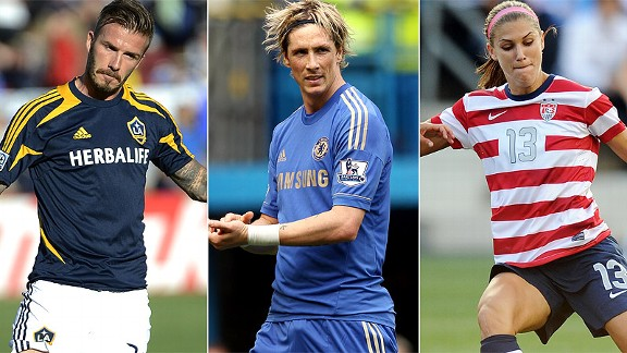 David Beckham/Fernando Torres/Alex Morgan