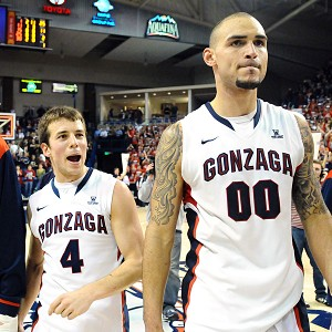 Robert Sacre and Kevin Pangos