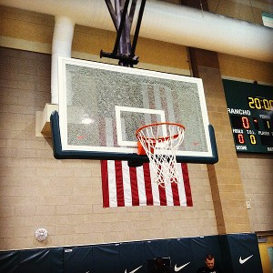 Devin Williams shattered backboard