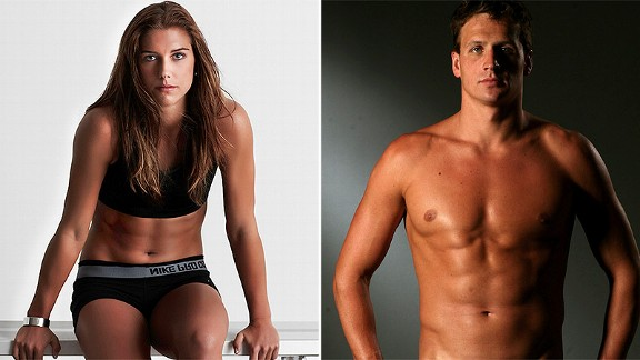 Alex Morgan and Ryan Lochte are two of four No. 1 seeds in the Brackets of Awesome.