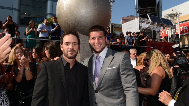 Jimmie Johnson and Tim Tebow