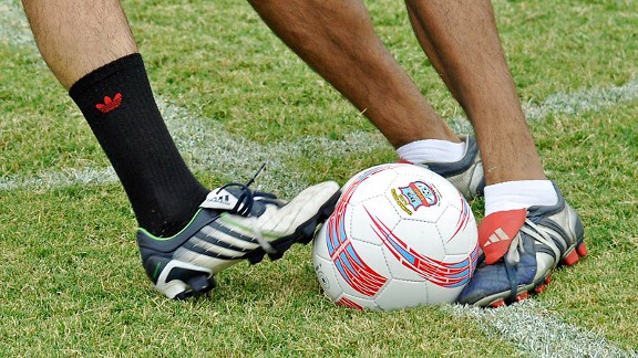 soccer ball, cleats