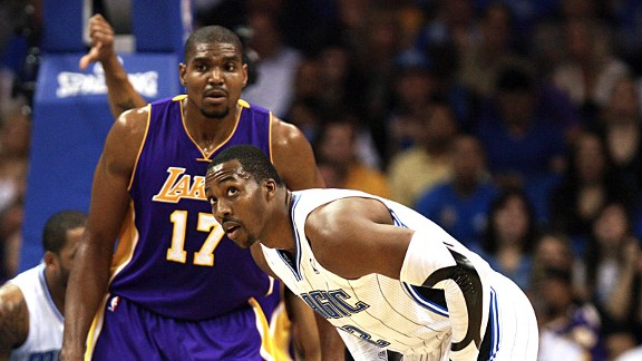 Andrew Bynum and Dwight Howard