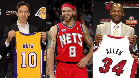 Deron Williams, Steve Nash, Ray Allen