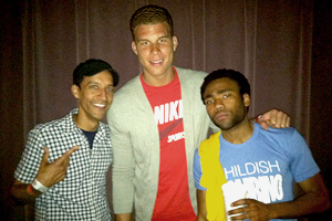 Donald Glover and Blake Griffin
