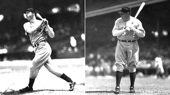 Joe DiMaggio and Babe Ruth