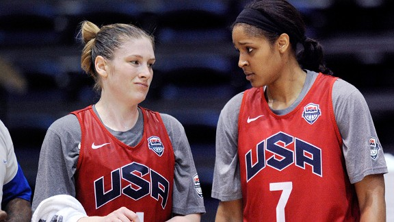 Lindsay Whalen and Maya Moore