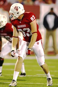 Indiana Hoosiers tight end Ted Bolser