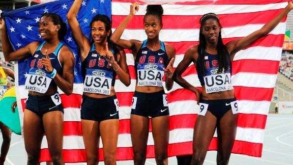 Team USA 4x400 women