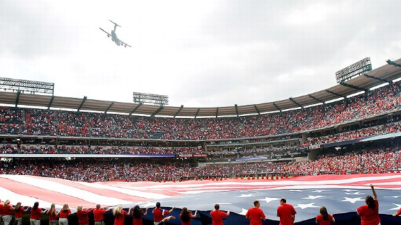 Yankees-Angels Flyover