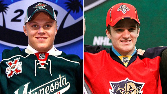 Mikael Granlund and Jonathan Huberdeau