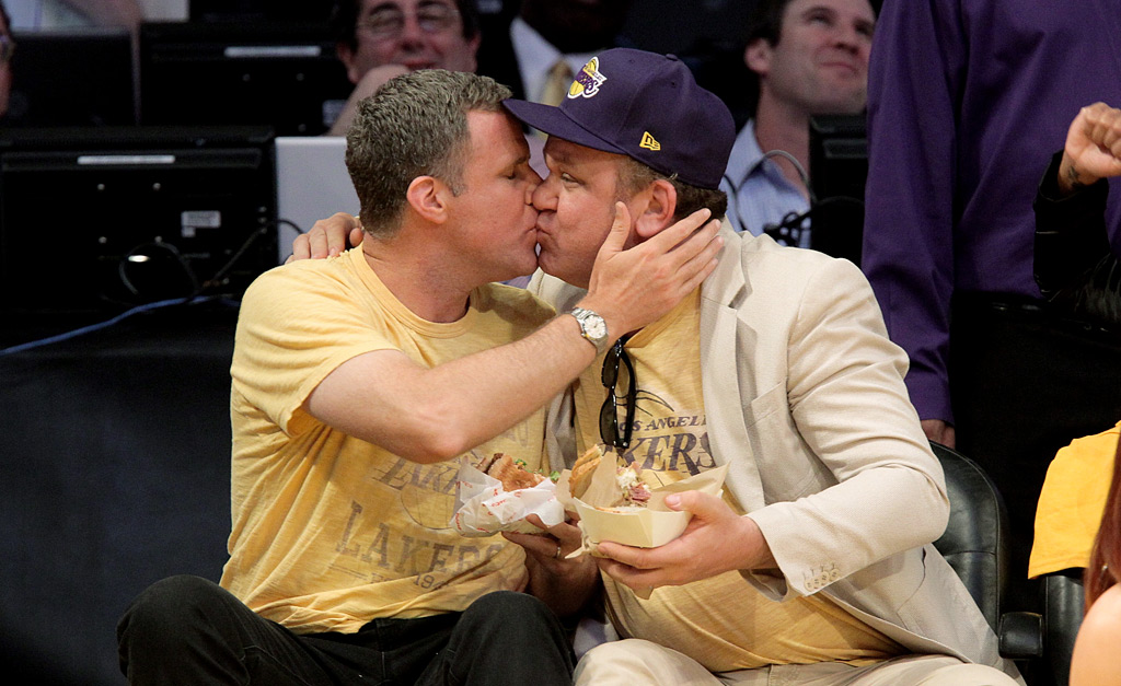 Will Ferrell and John C. Reilly - Memorable Kiss Cam ...