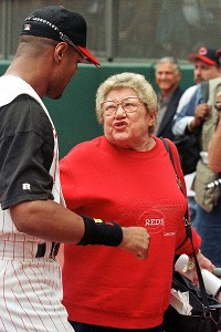 Barry Larkin and Marge Schott