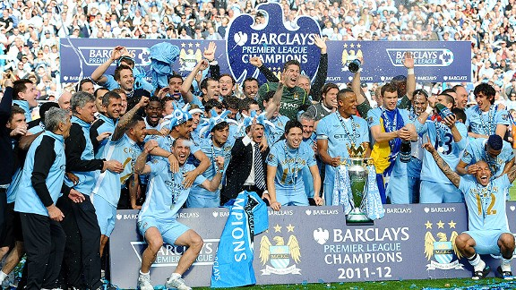 Manchester City celebration