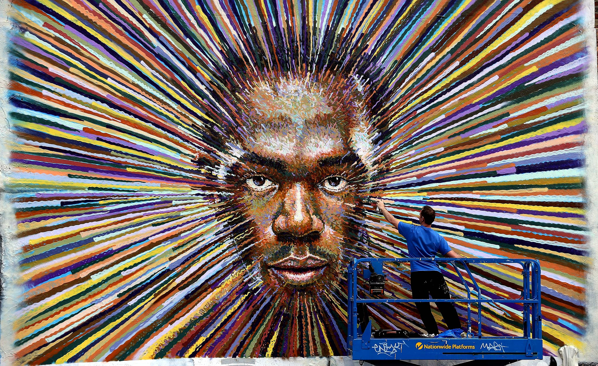 Usain Bolt mural