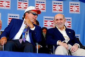Johnny Bench and Yogi Berra