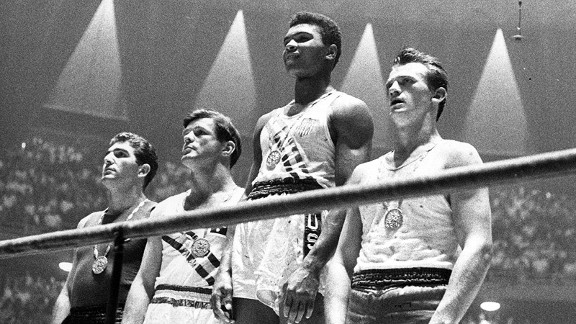 Muhammad Ali, then Cassius Clay, at the 1960 Rome Olympics