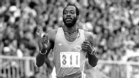 Edwin Moses at the 1980 U.S. Olympic trials