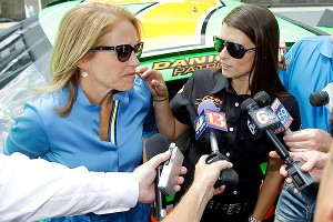 Before taking Katie Couric for a spin around Indy, Danica Patrick warmed up her stock car, and the memories came flooding back.