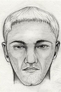 Police have released a sketch of Gibbons' assailant, a thin white man in his 30s.