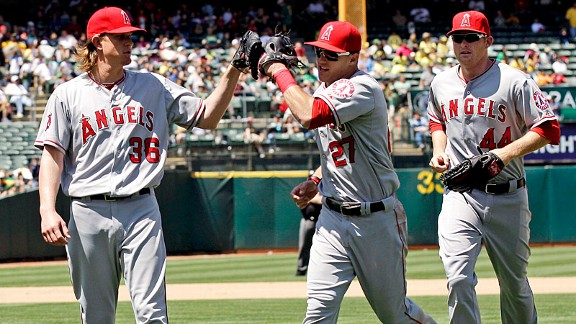 Jered Weaver & Mike Trout