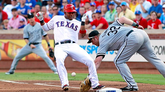 Elvis Andrus and Adam Dunn