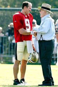New Orleans' Drew Brees and Tom Benson