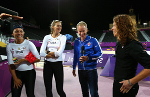 Misty May-Treanor  , Kerri Walsh, John McEnroe, Shaun White