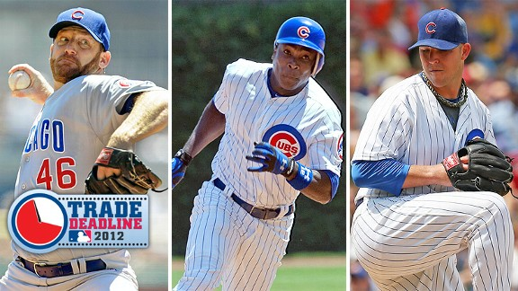 Ryan Dempster, Alfonso Soriano and Paul Maholm