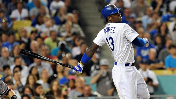 Hanley Ramirez with the Los angeles Dodgers