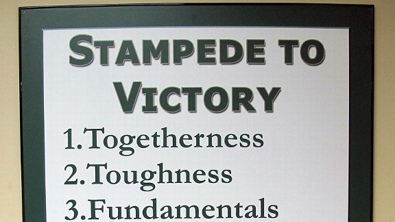 This sign at South Florida is the brainchild of coach Skip Holtz.