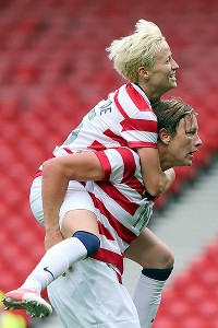 Abby Wambach and Megan Ropinoe