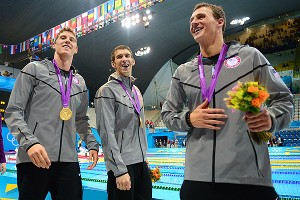 Conor Dwyer, Michael Phelps, Ryan Lochte
