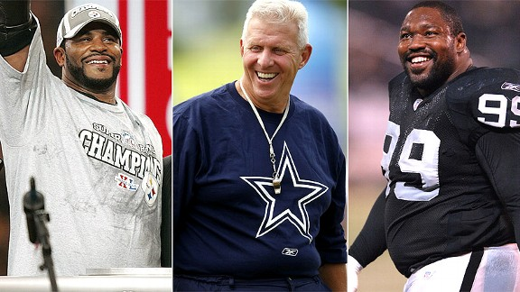 Jerome Bettis/Bill Parcells/Warren Sapp