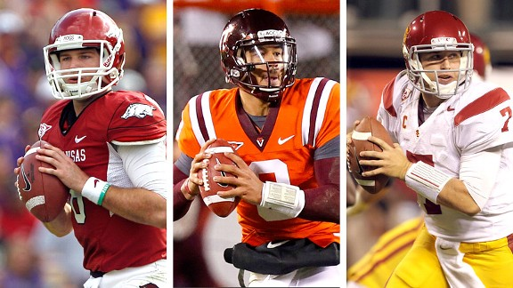 Tyler Wilson, Logan Thomas and Matt Barkley