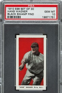 1910 Honus Wagner baseball card 