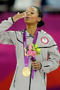 Social media critics, who have taken issue with Gabby Douglas' hair, have somewhat lessened her triumph.
