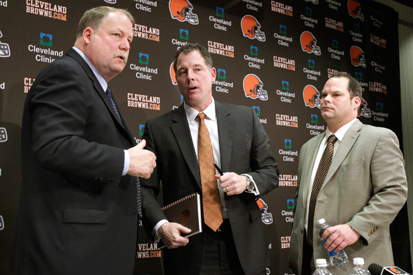 Mike Holmgren, Pat Shurmur and Tom Heckert