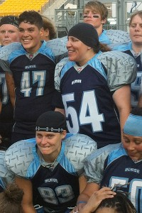 Christine Carrillo, wearing No. 54, helped the San Diego Surge to a championship Saturday at Heinz Field.