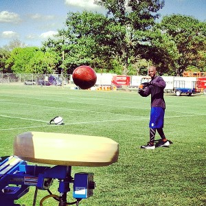 Paul Kuharsky/ESPN.com Colts wide receiver Reggie Wayne works with the