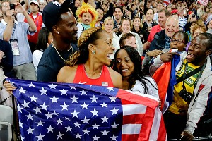 Aaron Ross and Sanya Richards-Ross