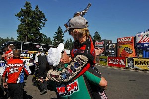 Courtney & John Force