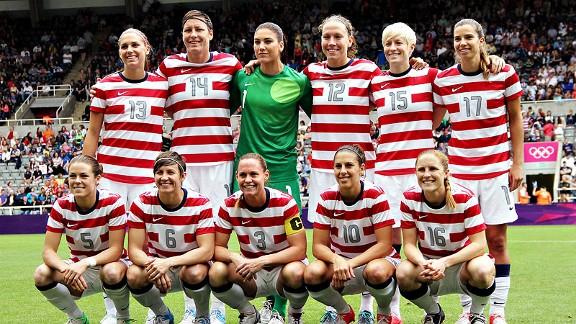 US Women Pregame Pose