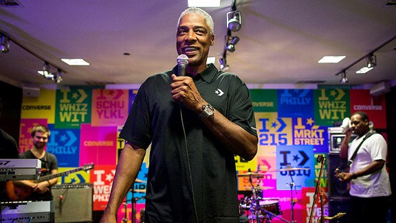 Julius Erving at converse event in philadelphia