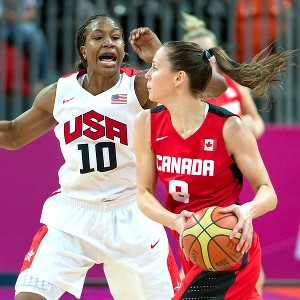 Only two Canadian players scored in double figures against Tamika Catchings and the U.S. defense.
