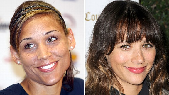 Lolo Jones and Rashida Jones