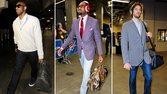 Kobe Bryant, LeBron James and Pau Gasol