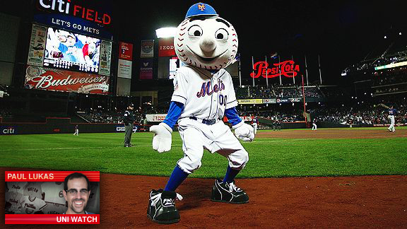 Playbook Mr. Met Uniwatch